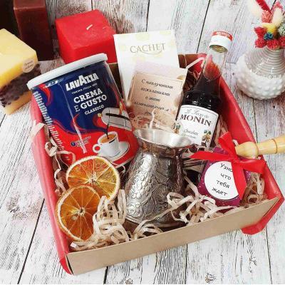 Подарочный набор с кофе и туркой