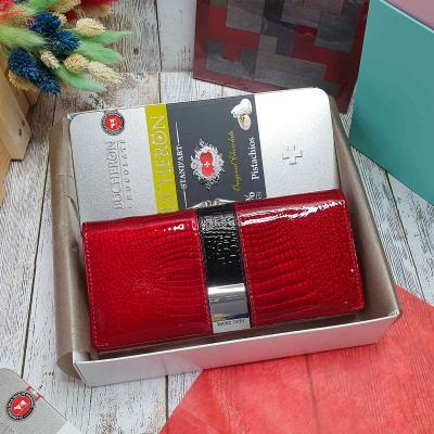 Подарочный набор женский кожаный кошелек