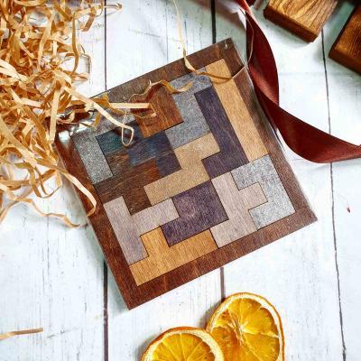 Подарочный набор в деревянном ящике с чаем, головоломкой и французским трюфелем