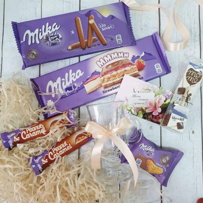 Подарочный набор со сладостями Милка и кружкой