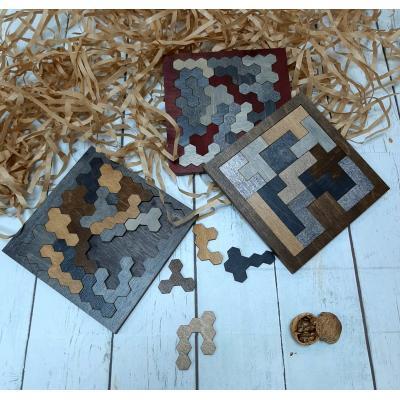 Подарочный набор с головоломкой ручной работы